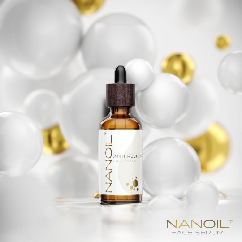 serum do twarzy do cery naczynkowej łagodzące podrażnienia Nanoil